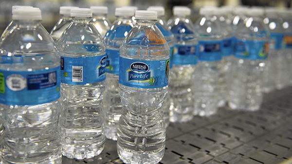 bottles of nestle water