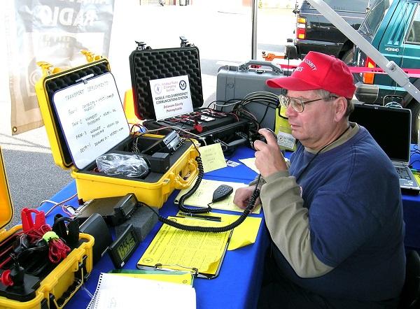 man working radio