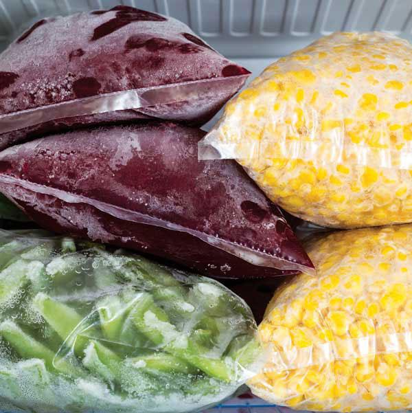 Freezing food for preservation