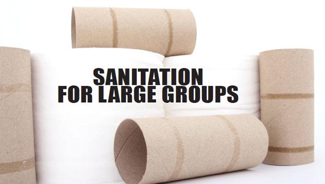 Sanitation for Large groups title image