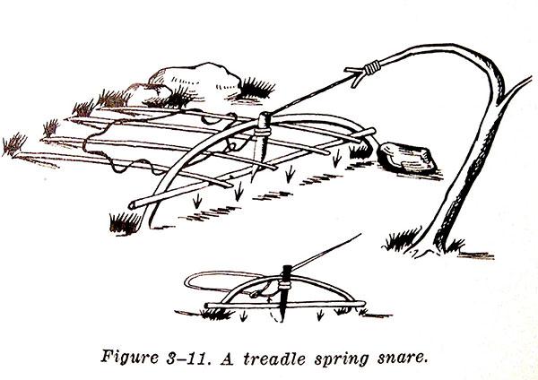 Treadle spring snare