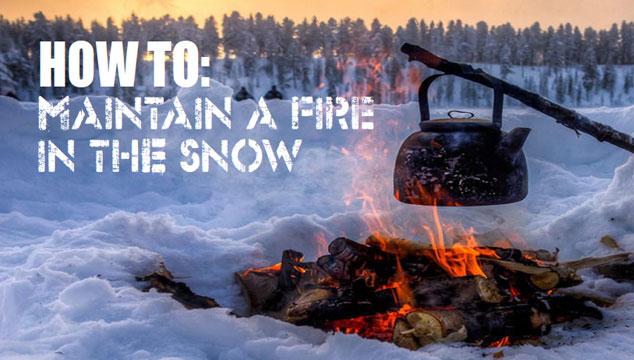 Snow Fire Title