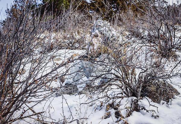 snow scape ghillie suit