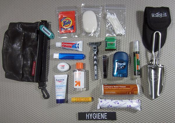 hygiene kit components